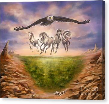 Strength Of The Horse Canvas Print by Tamer and Cindy Elsharouni