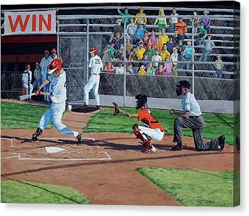 Strike Canvas Print by Timithy L Gordon