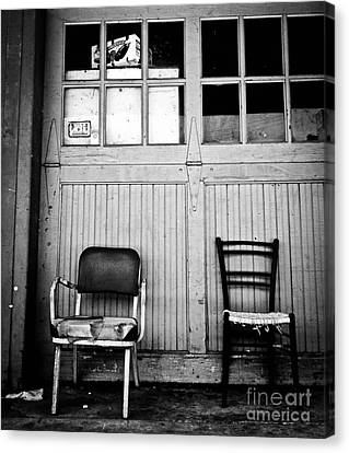 Strip District Doorway Number Eight Canvas Print by Amy Cicconi