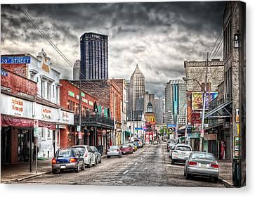 Strip District Pittsburgh Canvas Print by Emmanuel Panagiotakis
