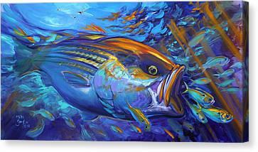 Striper Blitz Canvas Print by Savlen Art