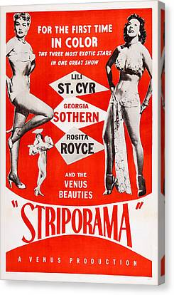 Striporama, Us Poster, From Left Lili Canvas Print by Everett