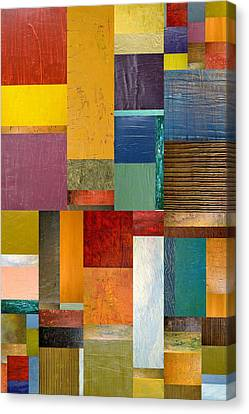 Strips And Pieces Ll Canvas Print by Michelle Calkins