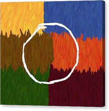 Strokes Of Colour Canvas Print by Condor