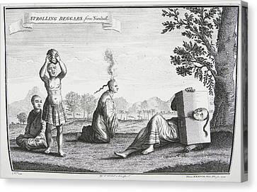 Strolling Beggars Canvas Print by British Library
