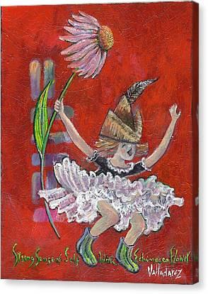 Strong Sense Of Self - Flower Essence Series Canvas Print by Maria Valladarez