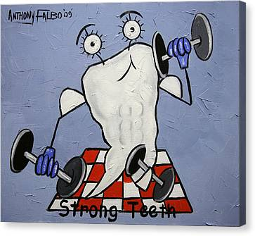Strong Teeth Canvas Print by Anthony Falbo