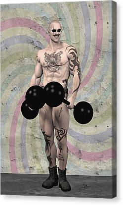 Strongest Man Skinhead  Canvas Print by Quim Abella