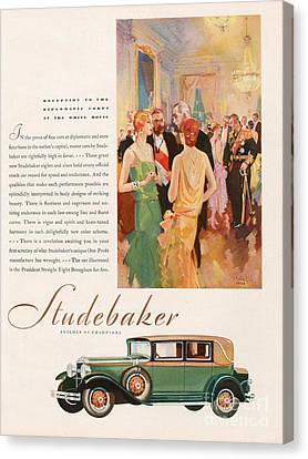 Studebaker 1929 1920s Usa Cc Cars Canvas Print by The Advertising Archives