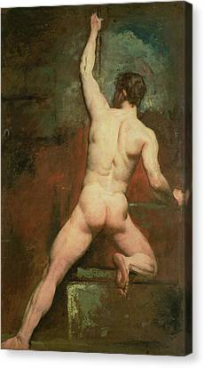 Study For A Male Nude Canvas Print by William Etty