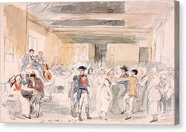 Study For Penny Wedding, 1817 Canvas Print by Sir David Wilkie