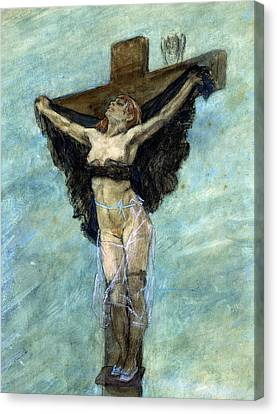 Study For The Temptation Of St Anthony Canvas Print by Felicien Rops