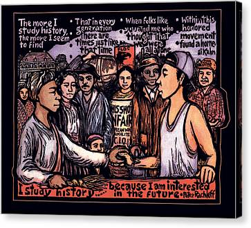 Study History Canvas Print by Ricardo Levins Morales