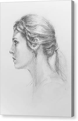 Study In Profile Canvas Print by Sarah Parks