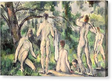 Study Of Bathers Canvas Print by Paul Cezanne