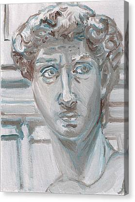 Study Of Michaelangelo's David Canvas Print by Jeffrey Oleniacz