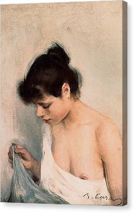 Study Canvas Print by Ramon Casas i Carbo