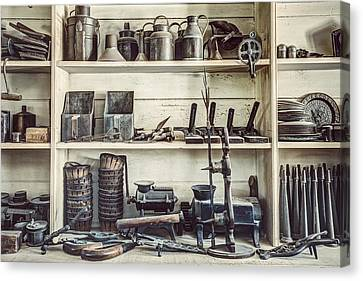 Stuff For Sale - Old General Store Canvas Print by Gary Heller