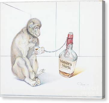 Stupid Monkey Canvas Print by Carlos Ruiz