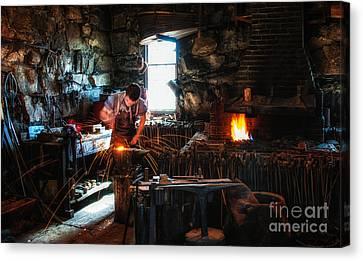 Sturbridge Village Blacksmith Canvas Print by Scott Thorp