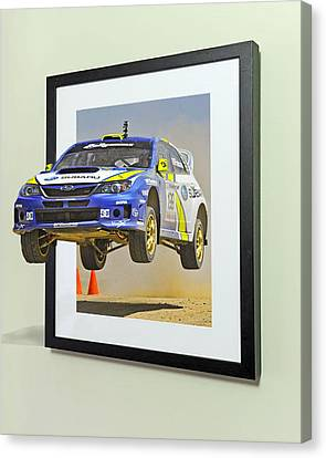 Subaru Frame Break Out  Canvas Print by Russell Mcconkey