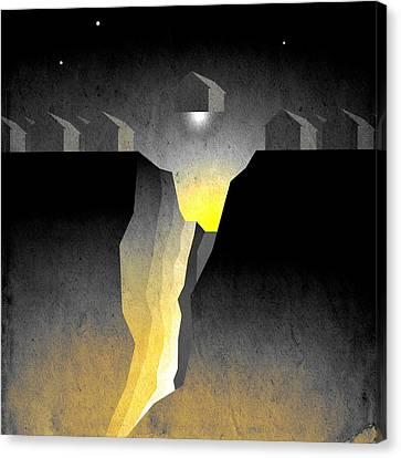Suburban Fracture  Canvas Print by Milton Thompson