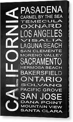 Subway California State 2 Canvas Print by Melissa Smith