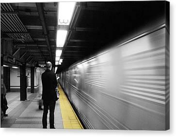 Subway Canvas Print by Enrique  Coloma