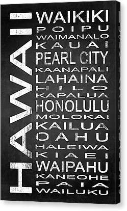 Subway Hawaii State 1 Canvas Print by Melissa Smith