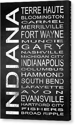 Subway Indiana State 1 Canvas Print by Melissa Smith