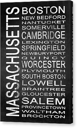 Subway Massachusetts State 1 Canvas Print by Melissa Smith