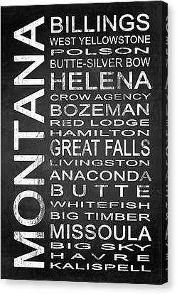 Subway Montana State 1 Canvas Print by Melissa Smith