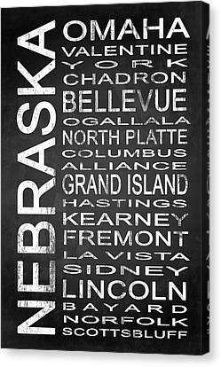 Subway Nebraska State 1 Canvas Print by Melissa Smith