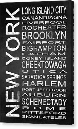 Subway New York State 3 Canvas Print by Melissa Smith