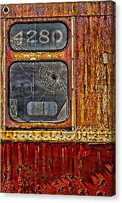 Subway Number 4280 Canvas Print by Susan Candelario
