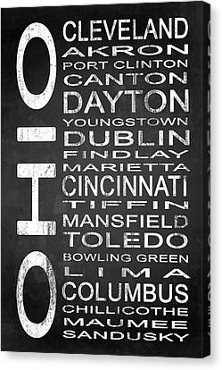 Subway Ohio State 1 Canvas Print by Melissa Smith