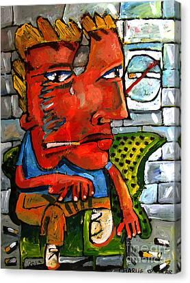 Subway Stoker Sam Canvas Print by Charlie Spear