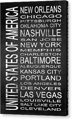 Subway United States 2 Canvas Print by Melissa Smith
