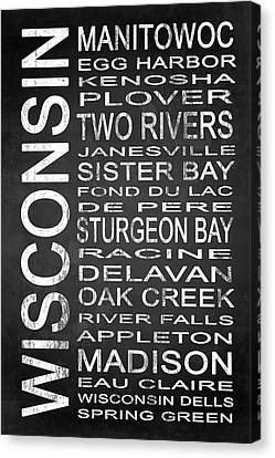 Subway Wisconsin State 1 Canvas Print by Melissa Smith