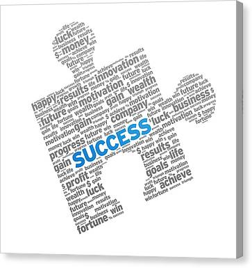 Success Puzzle Canvas Print by Aged Pixel