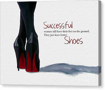 Successful Woman Canvas Print by Rebecca Jenkins