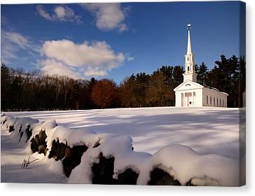 Sudbury Martha-mary Chapel Winter Covering Canvas Print by Mark Valentine