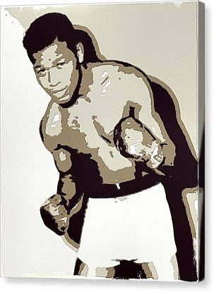 Sugar Ray Robinson Canvas Print by Florian Rodarte