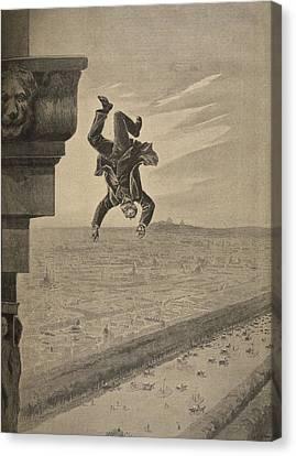 Suicide At The Arc De Troimphe Canvas Print by Henri Meyer