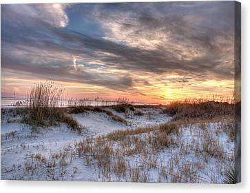 Sullivan' Island At Dusk Canvas Print by Walt  Baker