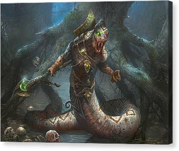 Sultai Skullkeeper Canvas Print by Ryan Barger