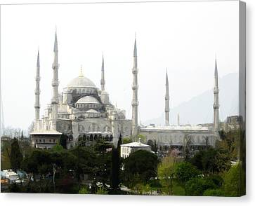 Sultan Ahmed The Blue Mosque Canvas Print by Celestial Images