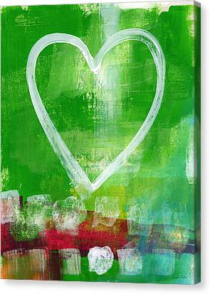 Sumer Love- Abstract Heart Painting Canvas Print by Linda Woods
