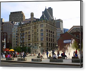 Summer Afternoon In Boston Canvas Print by Dora Sofia Caputo Photographic Art and Design