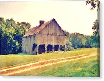 Summer Barn Canvas Print by Ryan Burton